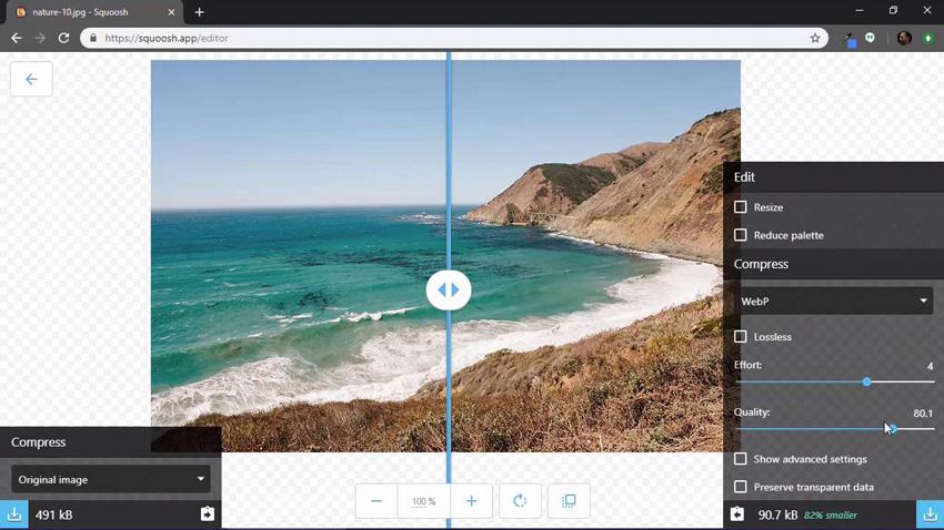 Creating a WebP image