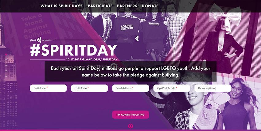 Take the Spirit Day pledge