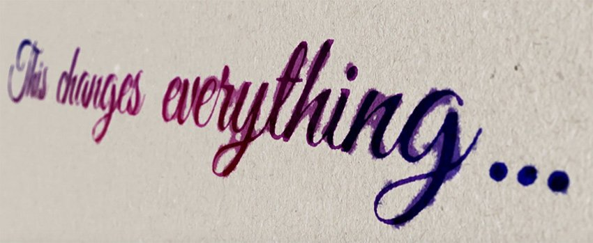 Handwriting effect in After Effects