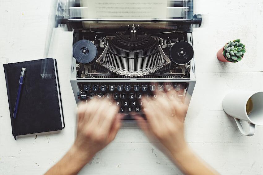 retro writing desk