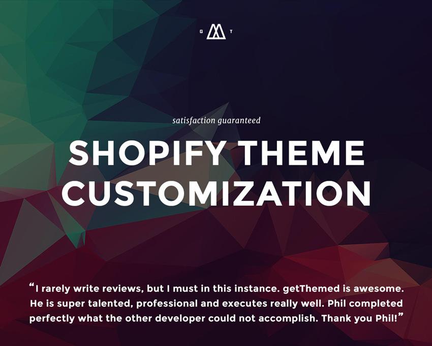 Shopify Theme Customization