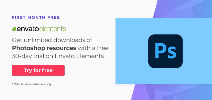 pro Photoshop resources on Envato Elements