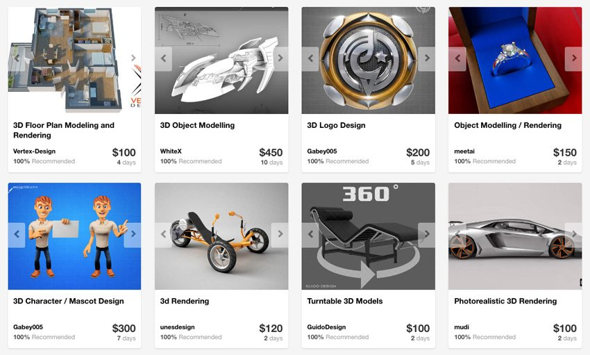 3D design and modeling services on Envato Studio