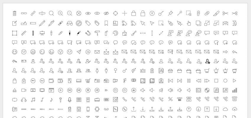 Icon slide from Google Slides Theme