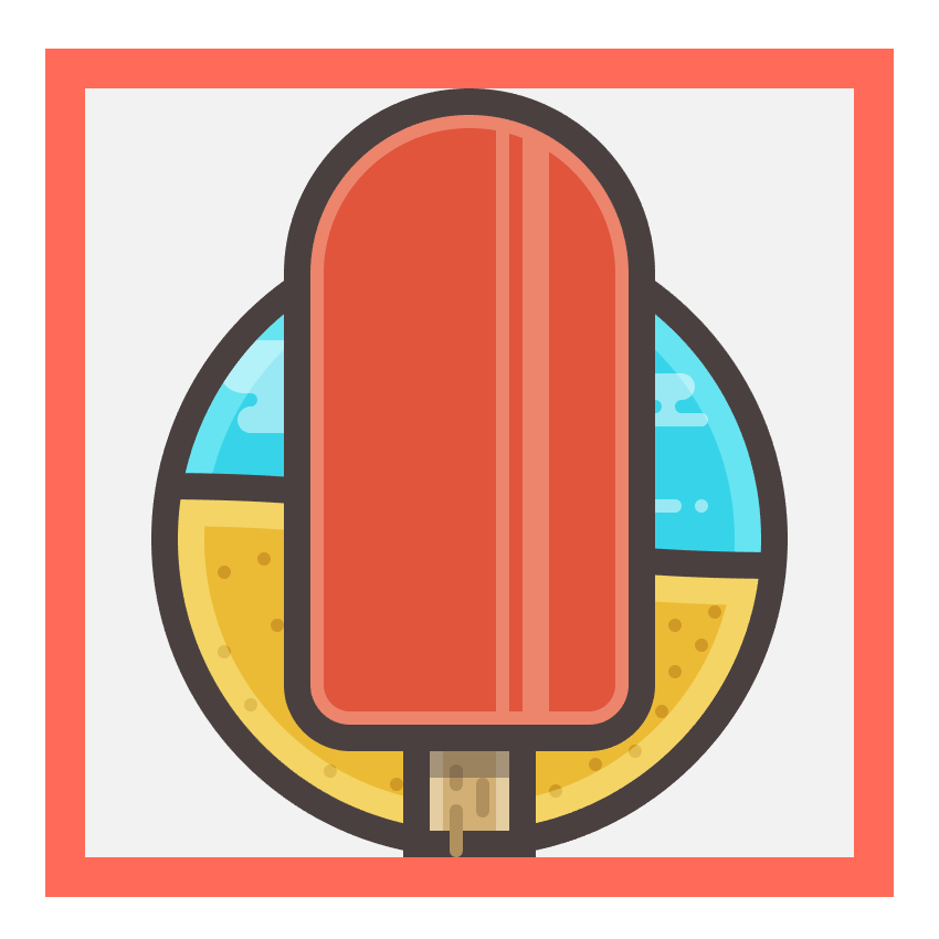 adding a subtle shadow to the ice creams stick