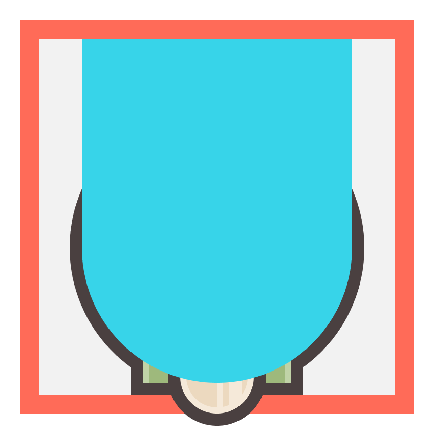 adjusting the shape of the blue circle before using it as a clipping mask