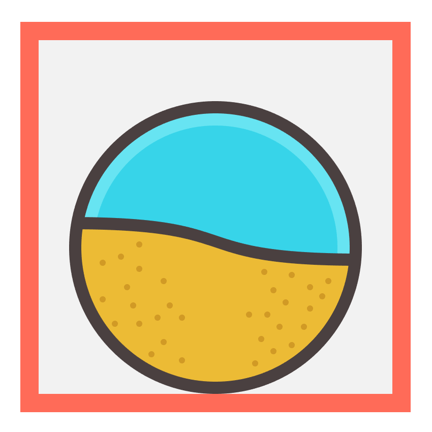 beach sand masked using clipping mask