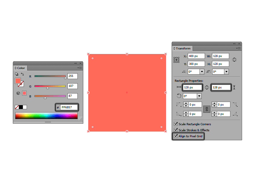 creating the main shape for the reference grids