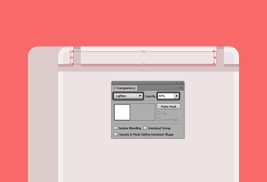 adding some subtle highlights to the vertical dividers