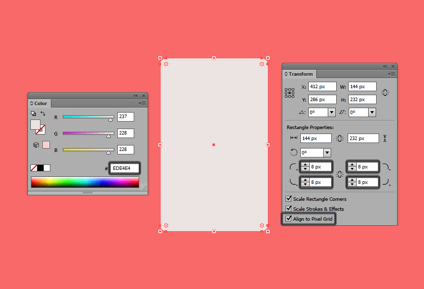 creating the main shape for the devices front section