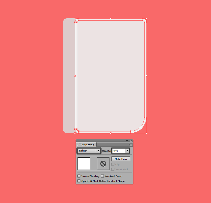 adjusting the outer highlight for the devices front section