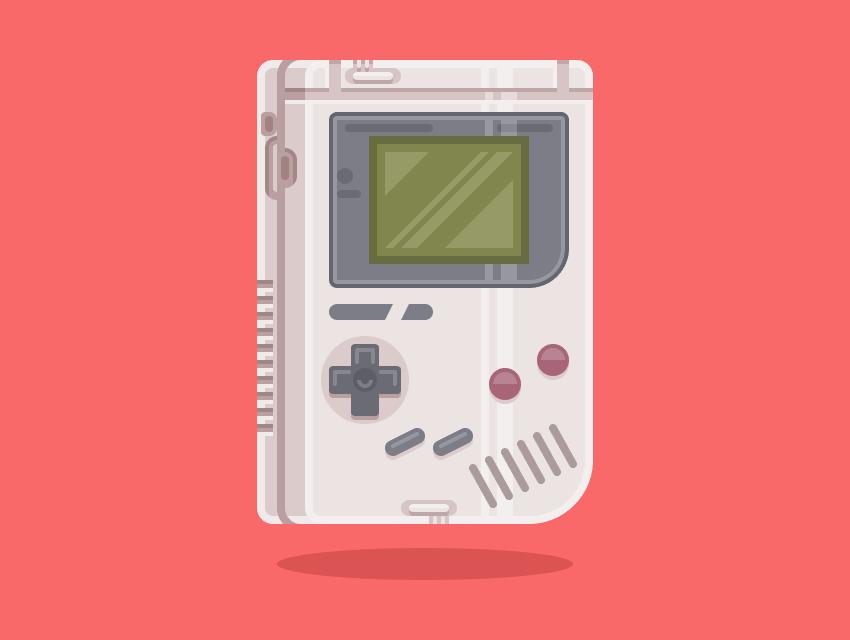 game boy illustration finished