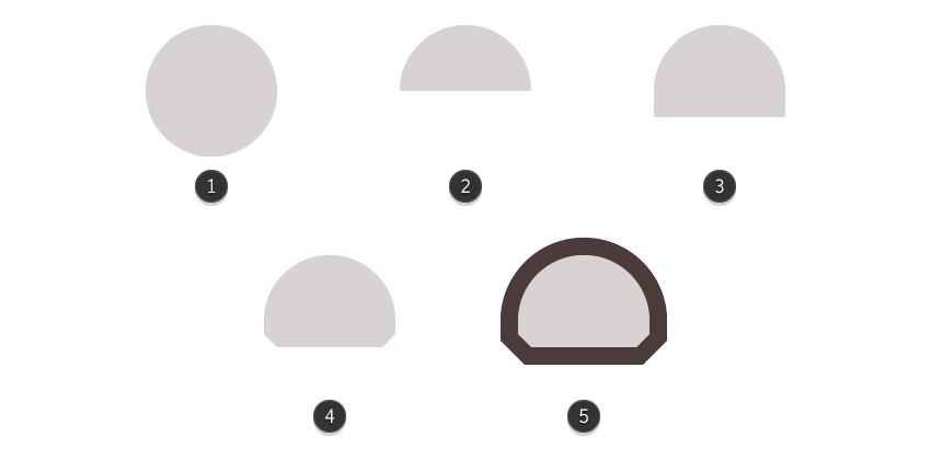 creating the bots head using basic shapes