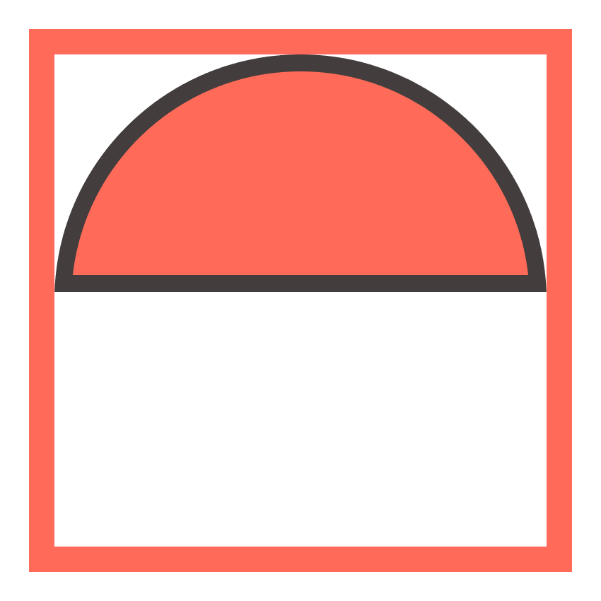 adding the outline to the upper half of the poke ball