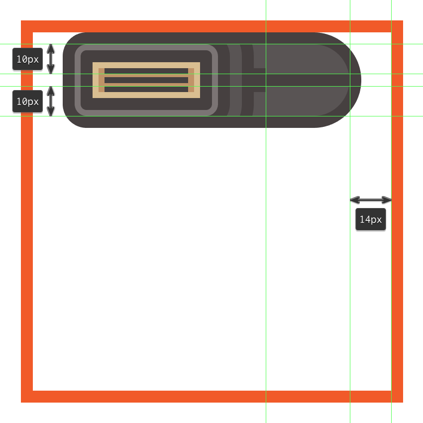 adding the horizontal divider line to the side section of the flashs upper body