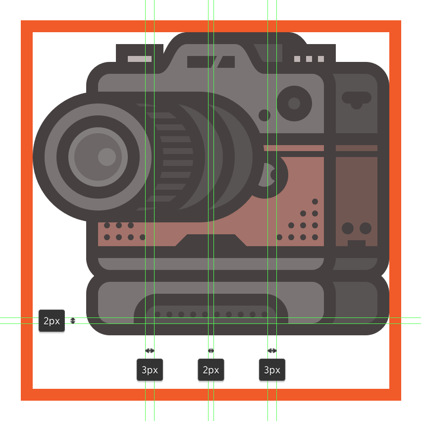 adding the rubber dimples to the lower section of the cameras add-on grip