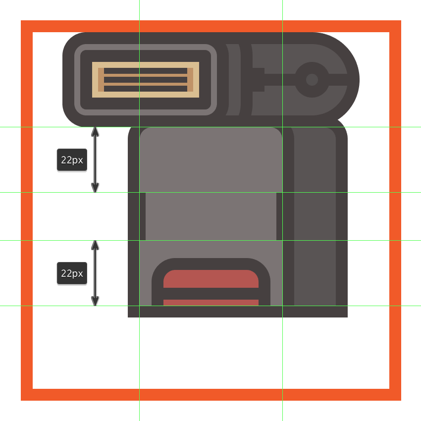 adding the side detail elements to the flashs front section