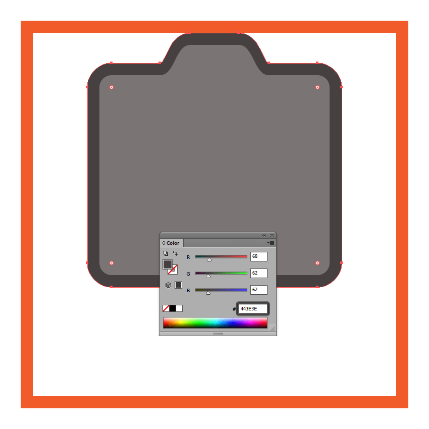 adjusting the color of the cameras front section outline