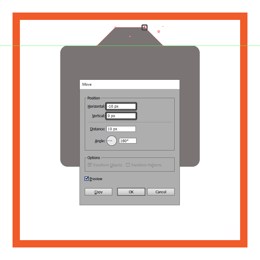 creating and positioning the main shape for the upper front section of the cameras body