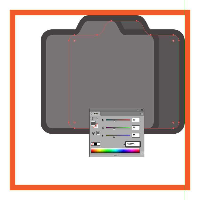 creating and positioning the main shapes for the cameras side section