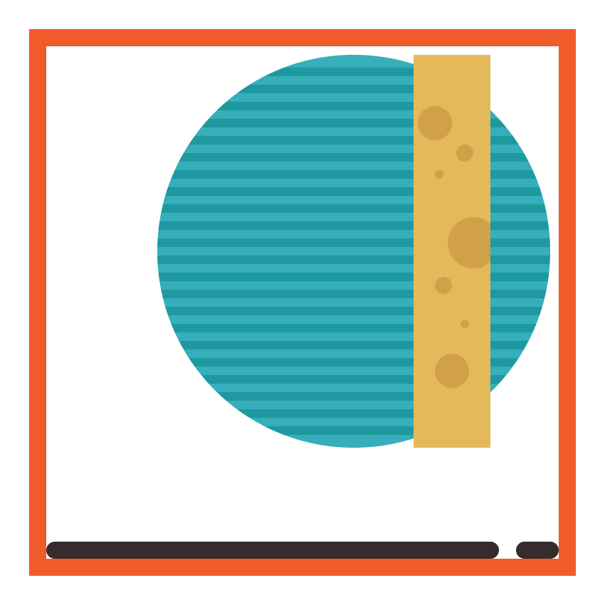 adding details to the circular present boxs golden wrap