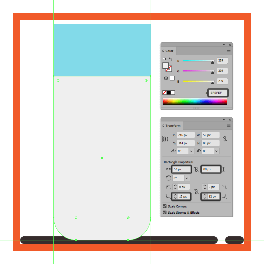 creating and positioning the milk section onto the glasss body