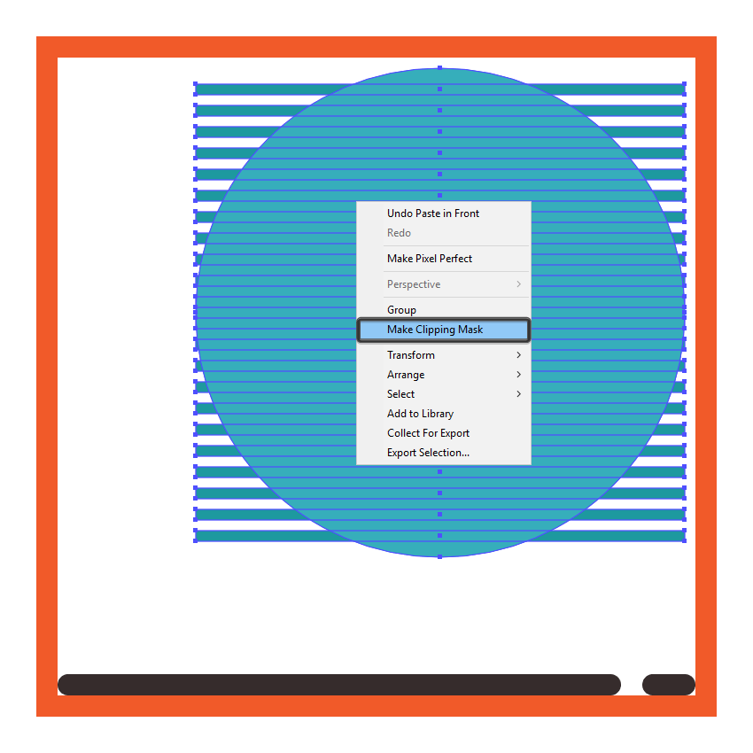 masking the circular present boxs color stripes