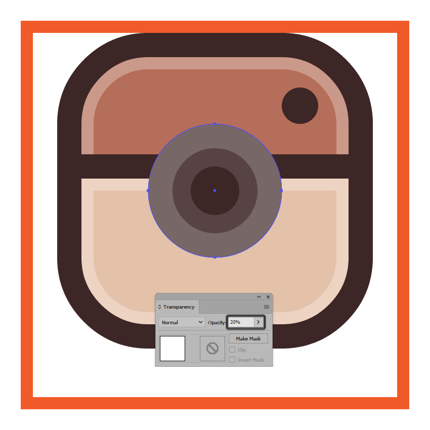 adding the subtle inner reflection to the instagram icons lens