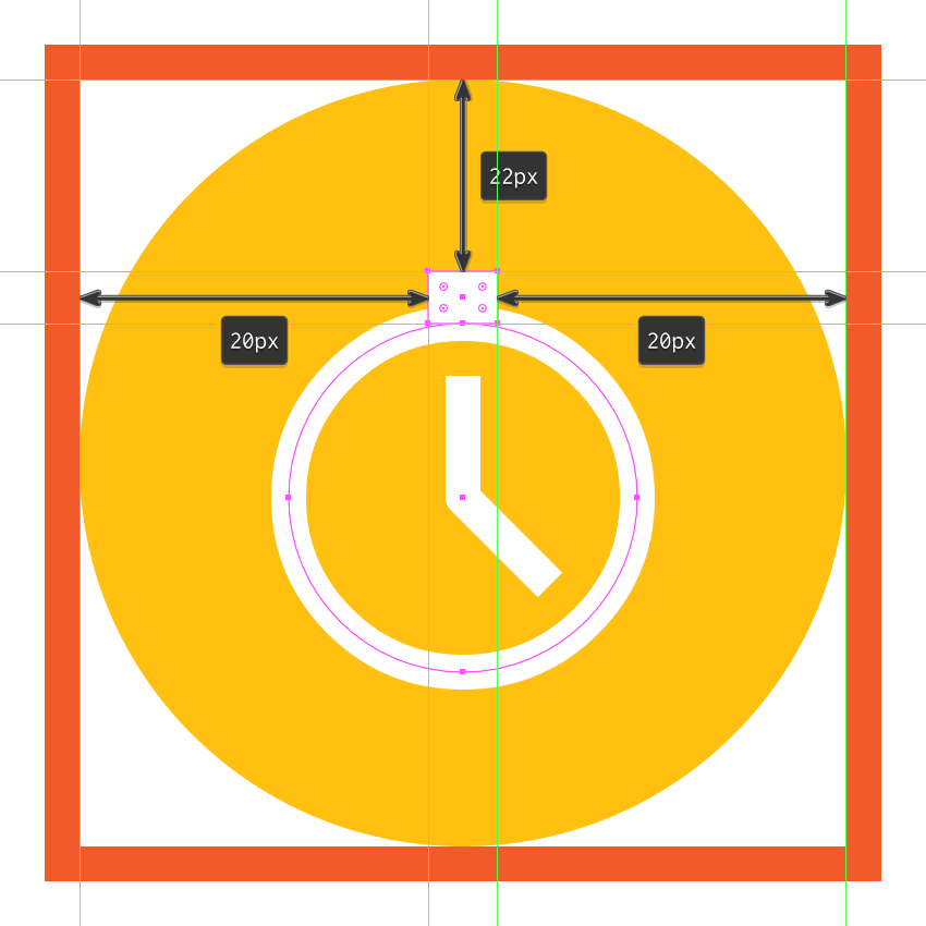 creating and positioning the main shape for the alarm clocks upper section