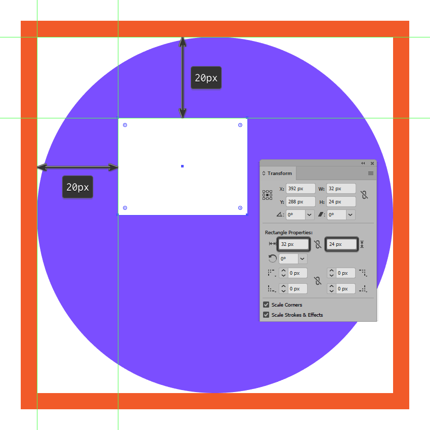 creating and positioning the main shape for the messaging icons left text box