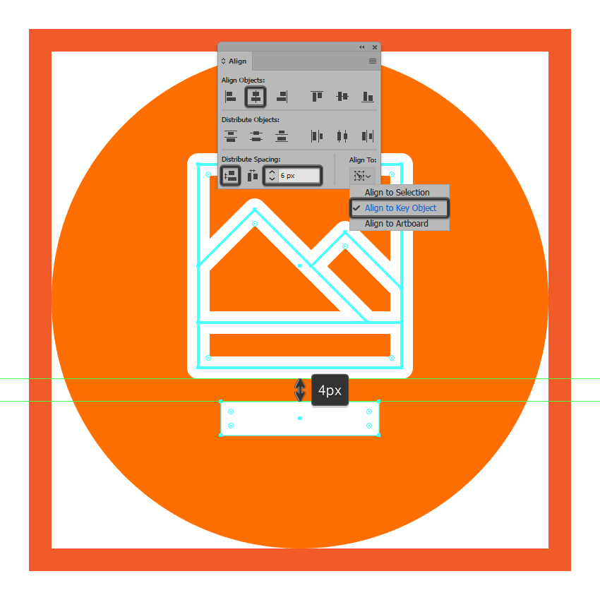 creating and positioning the main shape for the lower section of the photos icon