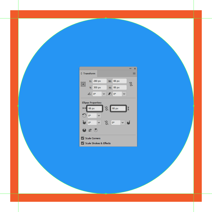 creating and positioning the main shape for the settings icons background