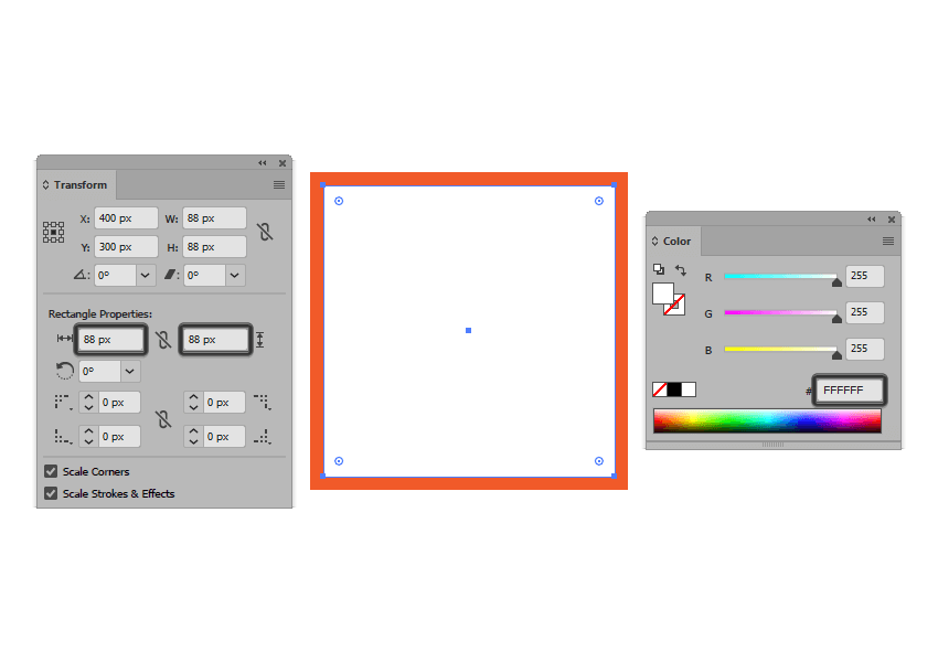 creating the main shape for the active drawing area