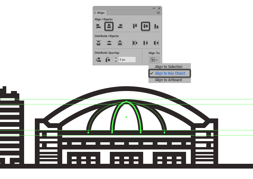 adding the second arch line to the domes roof