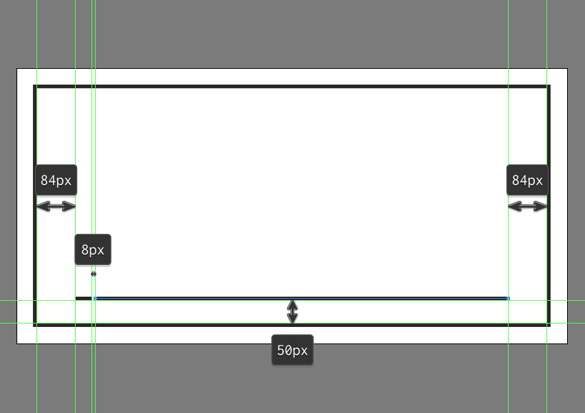 creating and positioning the foregrounds larger line segment