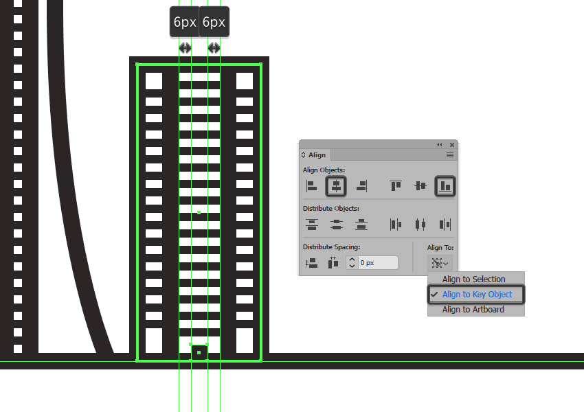 creating and positioning the main shape for the sixth buildings door