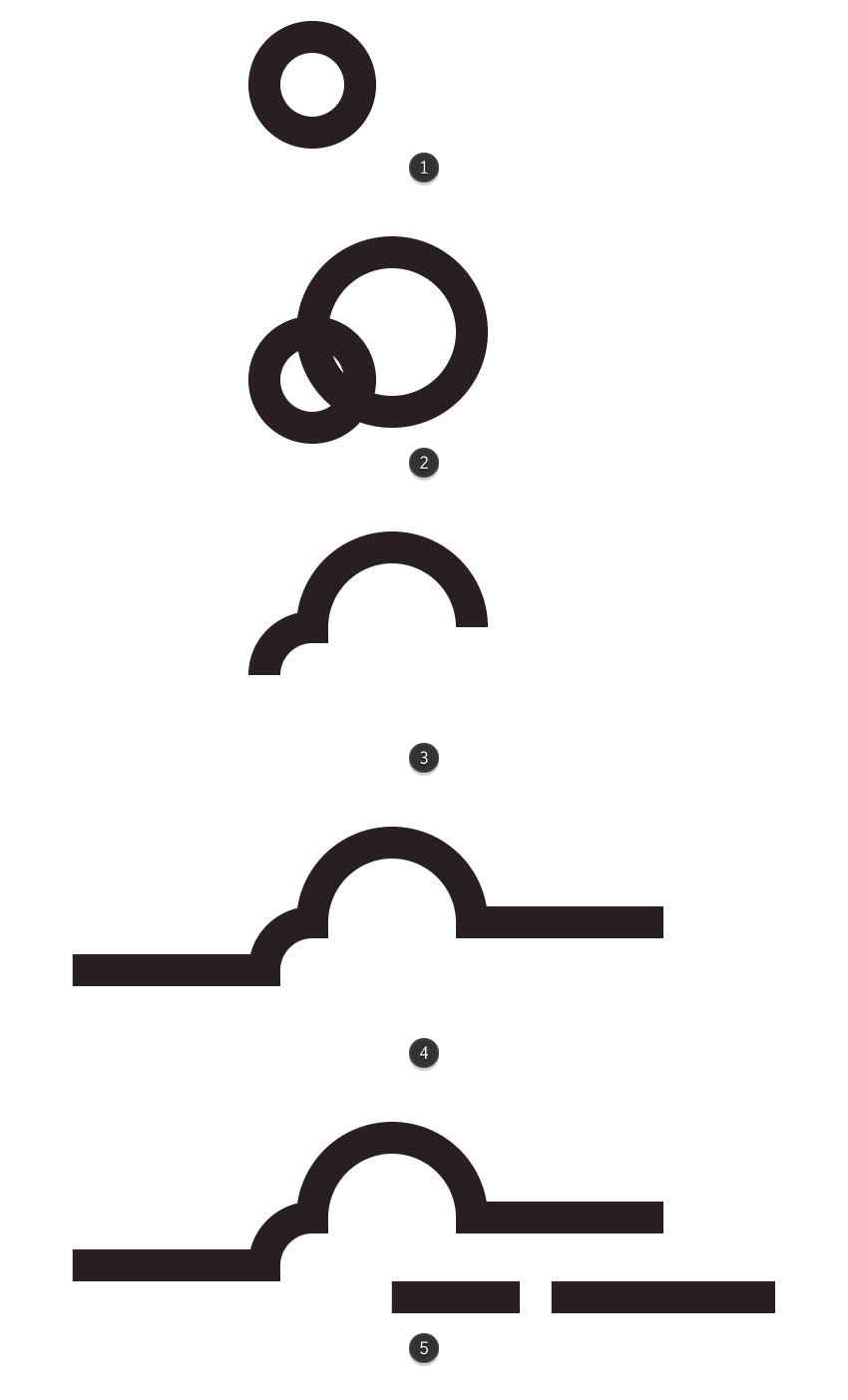creating and positioning the main shapes for the clouds