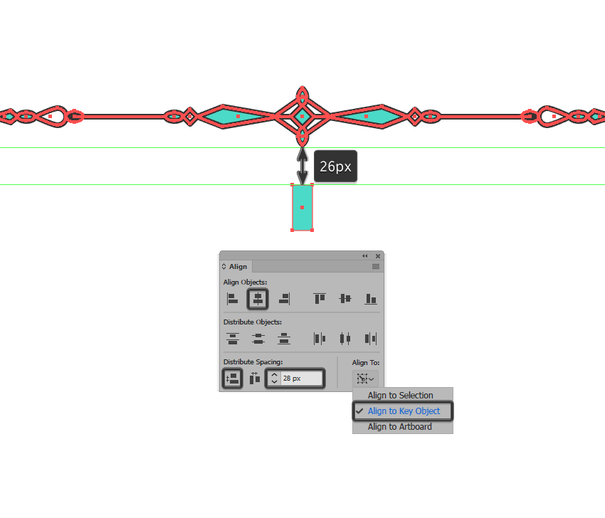 creating and positioning the main shape for the bottom dividers center section