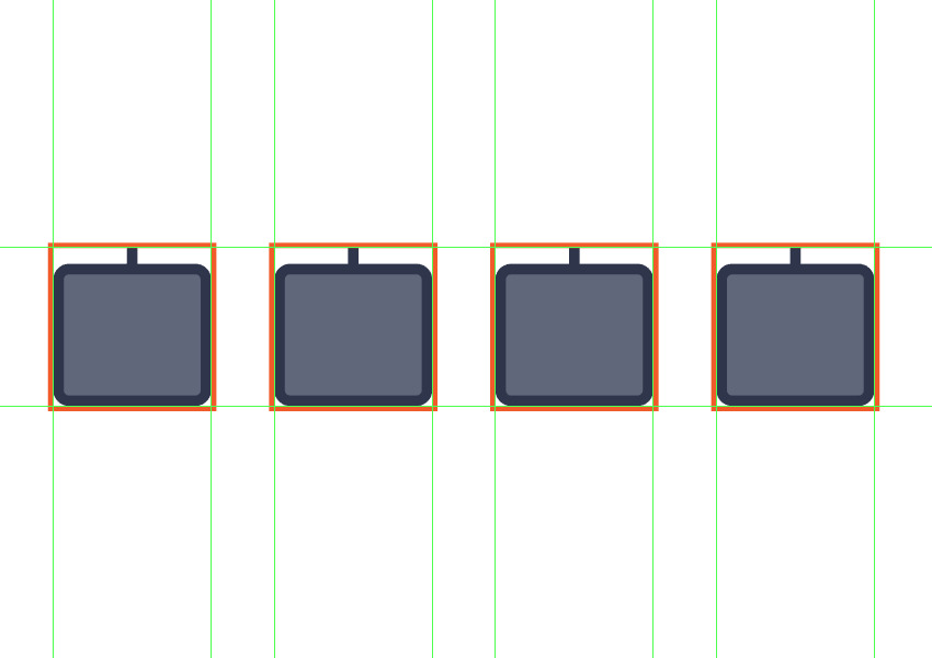 creating and positioning the repeating body copies onto the empty reference grids