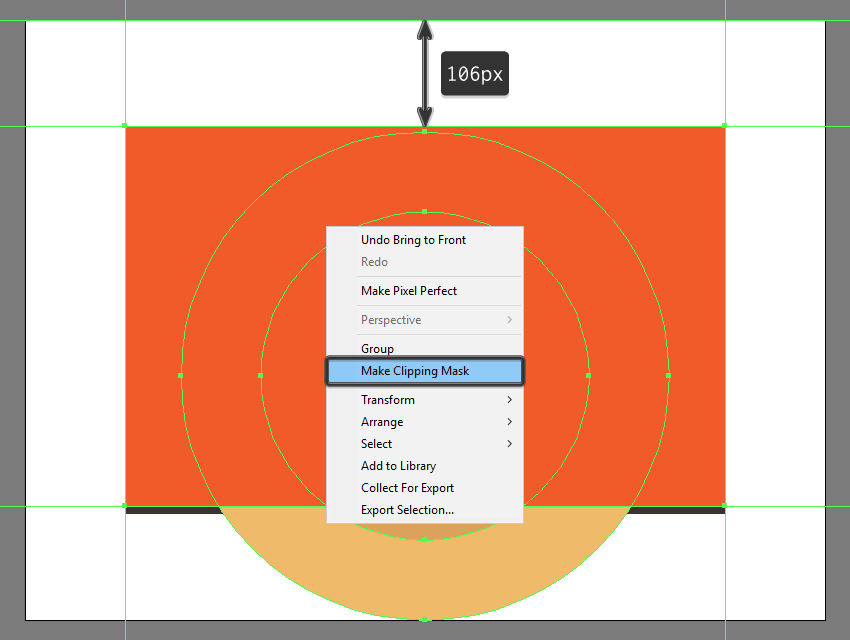 masking the bottom section of the backgrounds two circles