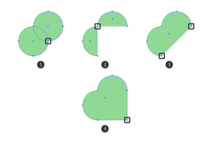 adjusting the shape of the clover icons first leaf