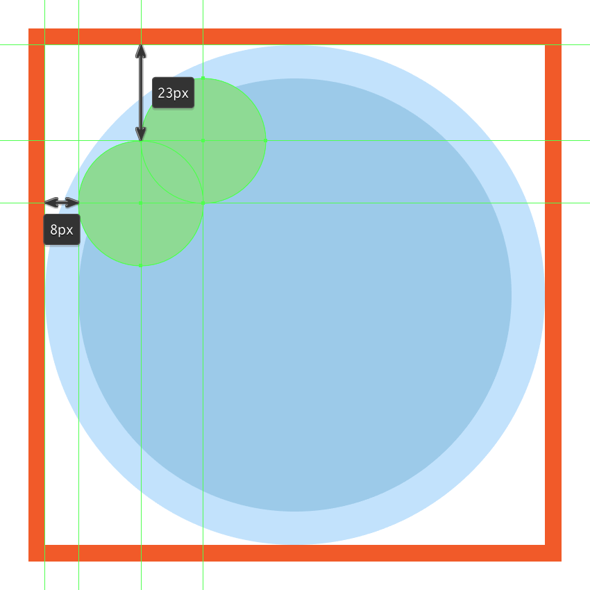 creating and positioning the main shape for the bottom half of the clover icons first leaf