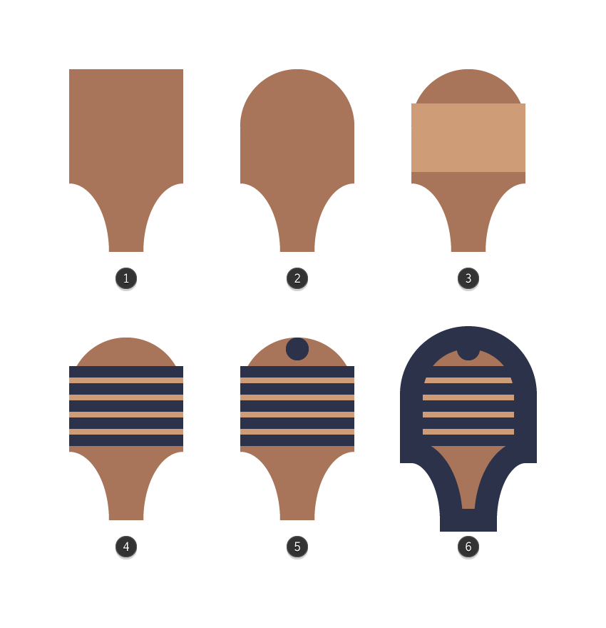adding details to the lower section of the third wooden spoons body