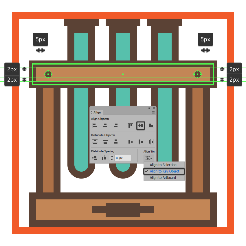adding the little screws to the upper section of the glassware icons wooden rack