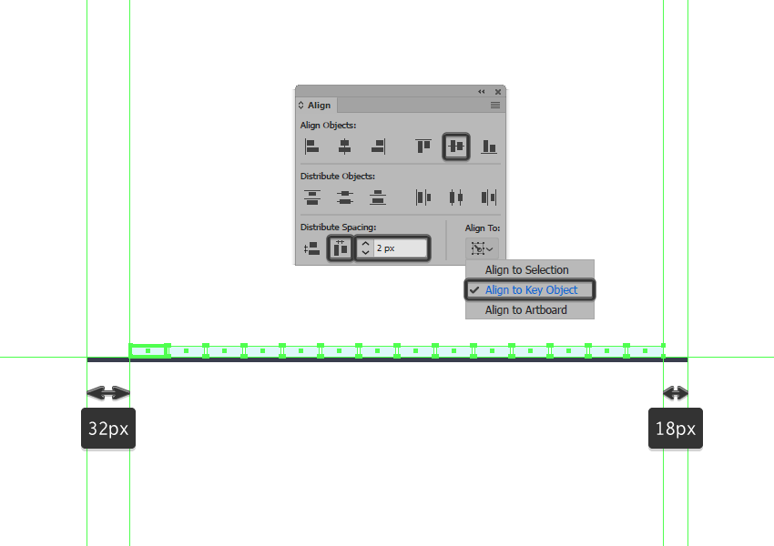 creating the background first row of tiles