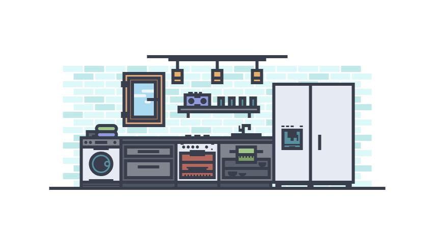 Vector Kitchen Illustration Adobe Illustrator Tutorial