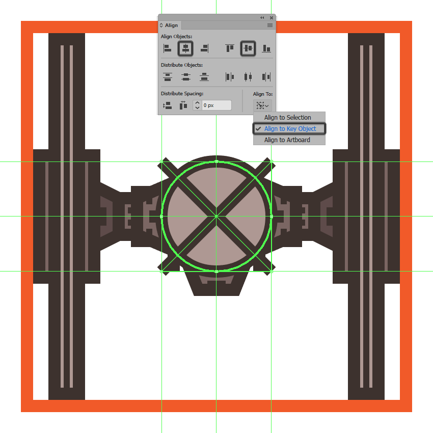 adding the cross section to the tie fighters command pod