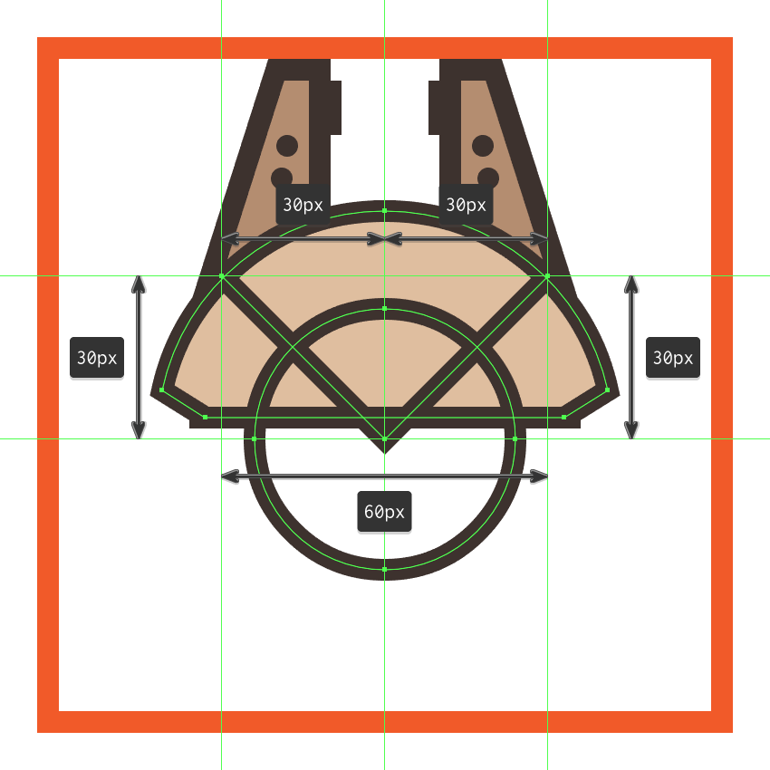 adding the cross section to the millennium falcons upper body