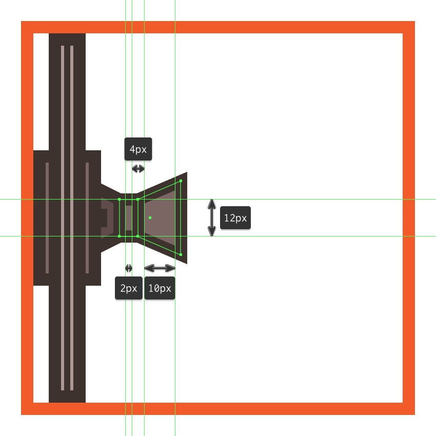 adding the vertical divider line to the right section of the tie fighters left wing pylon