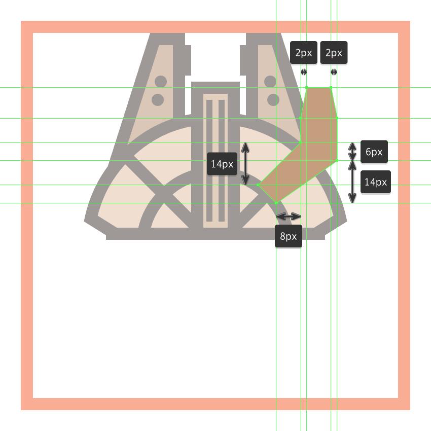 adjusting the shape of the millennium falcons cockpit